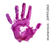 paint print of human palm in... | Shutterstock .eps vector #209951863
