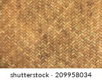 Handmade Bamboo Woven Texture.