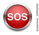 sos button. round sticker.... | Shutterstock .eps vector #209962033
