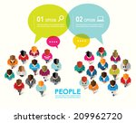 top view of social people... | Shutterstock .eps vector #209962720