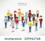 different social groups of... | Shutterstock .eps vector #209962768