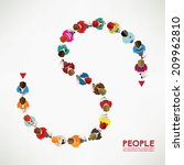 top view of social people... | Shutterstock .eps vector #209962810