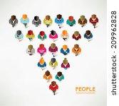 top view of social people... | Shutterstock .eps vector #209962828