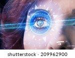 modern cyber girl with... | Shutterstock . vector #209962900