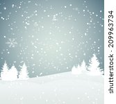 christmas snowflakes background ... | Shutterstock .eps vector #209963734