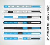 navigation bar set for websites ... | Shutterstock .eps vector #209964004