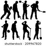 man silhouette | Shutterstock .eps vector #209967820