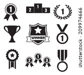 Trophy And Awards Icons Set ...