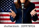 politician  woman speaking... | Shutterstock . vector #209978926