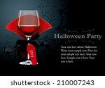 vector of halloween party...   Shutterstock .eps vector #210007243