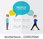 men talks and gather together...   Shutterstock .eps vector #210015064