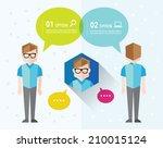 men talks and gather together... | Shutterstock .eps vector #210015124