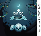 dia de muertos day of the dead... | Shutterstock .eps vector #210019426