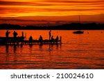 Lake Mendota Sunset from the Memorial Union Terrace on June night in 2014