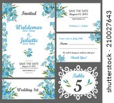 wedding invitation  thank you... | Shutterstock .eps vector #210027643