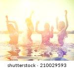 Group Of Happy Teen Girls...