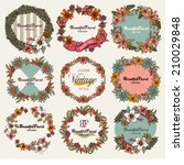 vintage botanical   wreath of...   Shutterstock .eps vector #210029848
