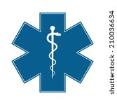 medical symbol of the emergency ... | Shutterstock . vector #210036634