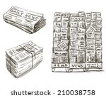 press. newspaper stand.... | Shutterstock .eps vector #210038758