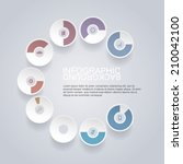 circle infographic design with... | Shutterstock .eps vector #210042100