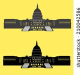 Stock vector united states capitol 210042586