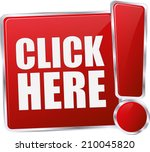 modern red click here sign   Shutterstock .eps vector #210045820
