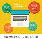 modern infographic. flat design.... | Shutterstock .eps vector #210047320