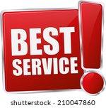 modern red best service button