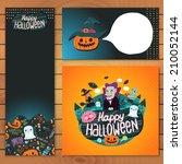 happy halloween brochure... | Shutterstock .eps vector #210052144