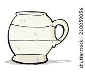 cartoon old style mug | Shutterstock . vector #210059056