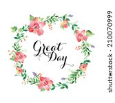watercolor floral frames | Shutterstock . vector #210070999