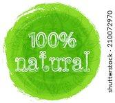 vector mandala. green... | Shutterstock .eps vector #210072970