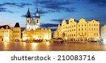 Prague Old Town Square At Night ...