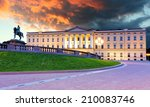 royal palace in oslo  norway | Shutterstock . vector #210083746