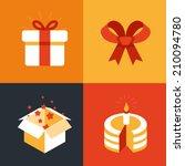 vector present emblems and... | Shutterstock .eps vector #210094780