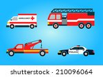 set of four vector emergency... | Shutterstock .eps vector #210096064