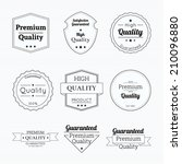 set tags of premium quality and ... | Shutterstock .eps vector #210096880