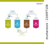 timeline infographic with... | Shutterstock .eps vector #210097108