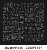 big household objects set.... | Shutterstock .eps vector #210098659