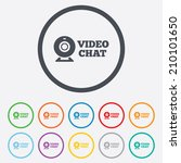 video chat sign icon. webcam... | Shutterstock .eps vector #210101650