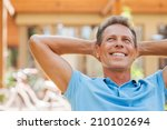 happy day dreamer. relaxed... | Shutterstock . vector #210102694
