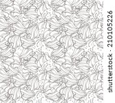 monochrome floral pattern | Shutterstock .eps vector #210105226