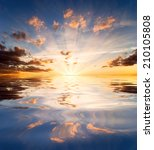 Reflections Of Sunset In...