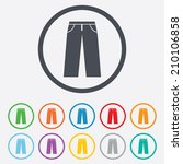 Men's Jeans Or Pants Sign Icon...