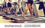 retro  vintage gym shot  ... | Shutterstock . vector #210108244