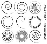 spirals with stroke profile | Shutterstock .eps vector #210115969