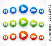audio  multimedia buttons layout