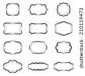 vintage labels black ink. ... | Shutterstock . vector #210119473