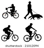 outdoor recreation silhouettes  ... | Shutterstock . vector #21012094