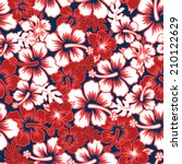 a surf floral hibiscus seamless ... | Shutterstock .eps vector #210122629